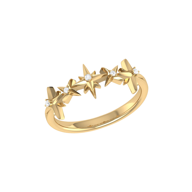 Starry Lane Diamond Ring in 14K Yellow Gold Vermeil on Sterling Silver