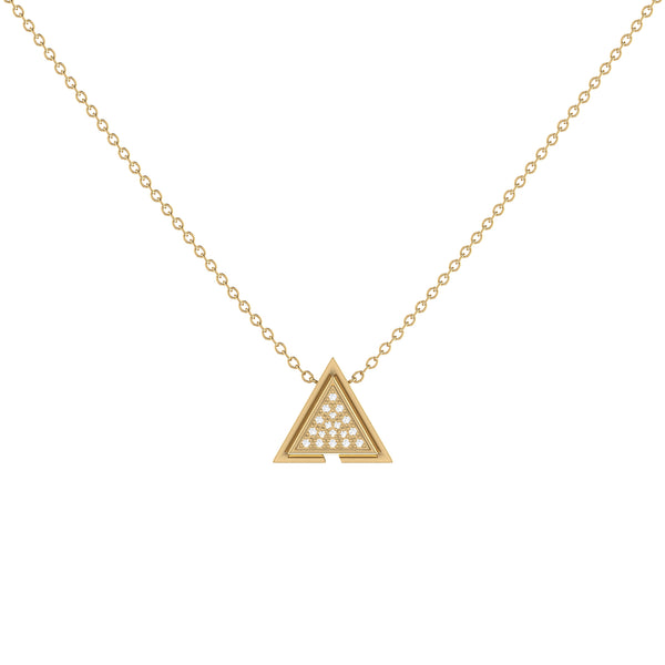 Skyscraper Triangle Diamond Necklace in 14K Yellow Gold Vermeil on Sterling Silver