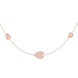 Avani Raindrop Layered Diamond Necklace in 14K Rose Gold Vermeil on Sterling Silver