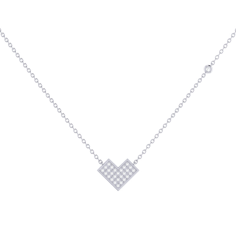 One Way Arrow Diamond Necklace in Sterling Silver