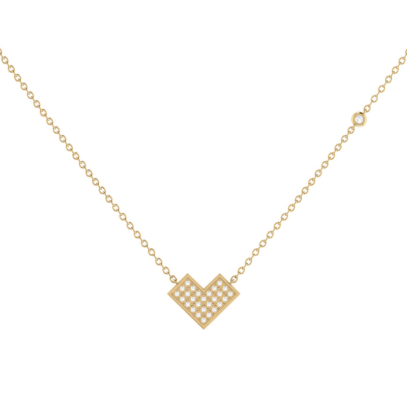 One Way Arrow Diamond Necklace in 14K Yellow Gold Vermeil on Sterling Silver
