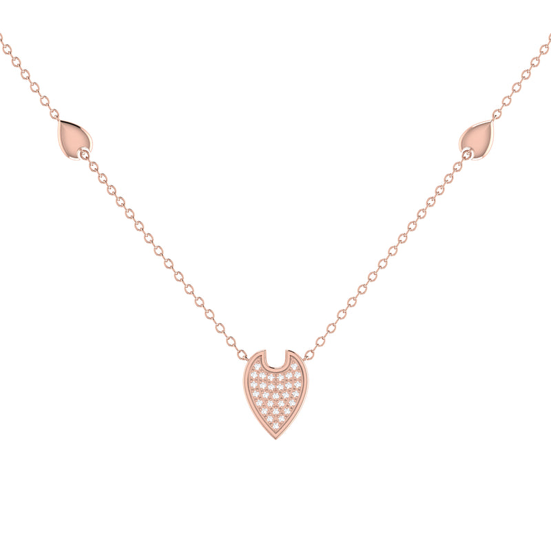 Raindrop Diamond Necklace in 14K Rose Gold Vermeil on Sterling Silver