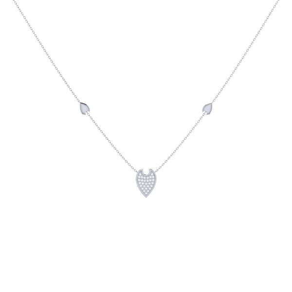 Raindrop Diamond Necklace in Sterling Silver