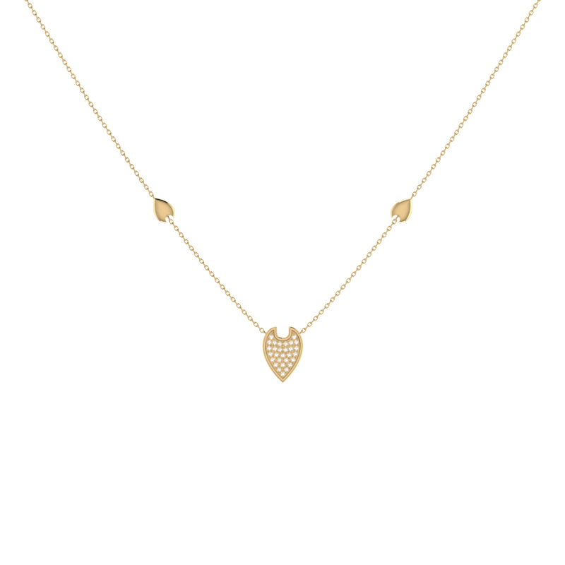 Raindrop Diamond Necklace in 14K Yellow Gold Vermeil on Sterling Silver