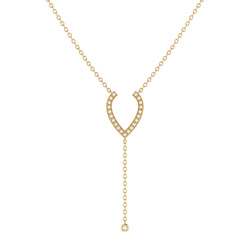 Drizzle Drip Teardrop Bolo Adjustable Diamond Lariat Necklace in 14K Yellow Gold Vermeil on Sterling Silver