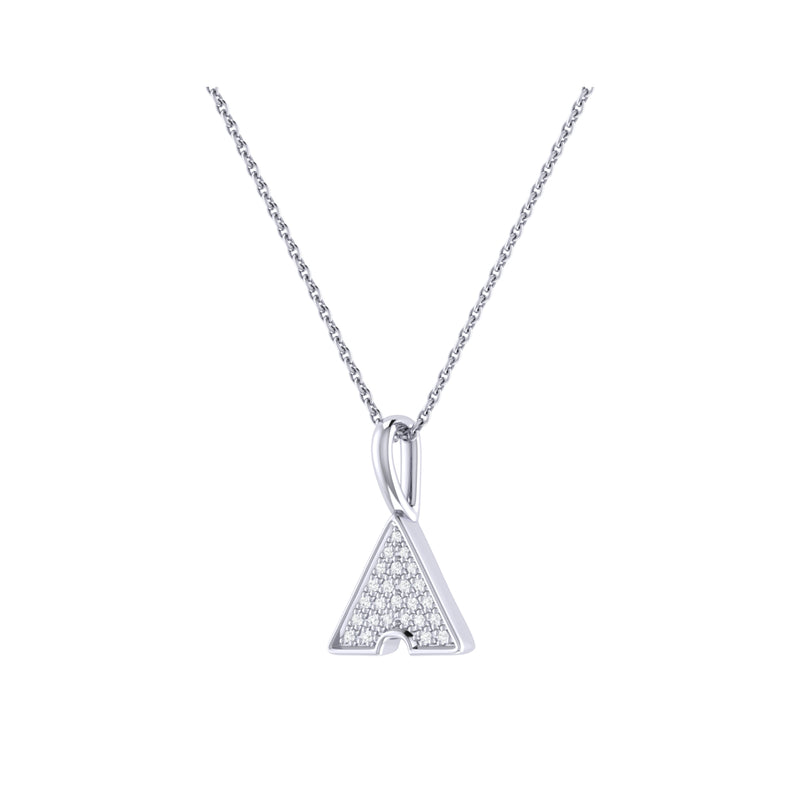 Skyscraper Triangle Diamond Pendant in Sterling Silver