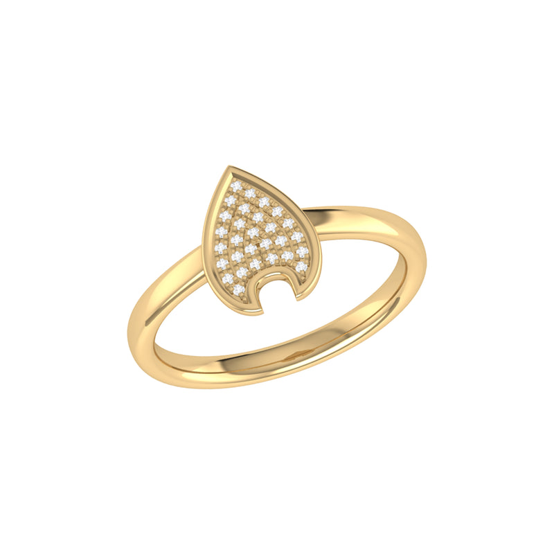 Raindrop Diamond Ring in 14K Yellow Gold Vermeil on Sterling Silver