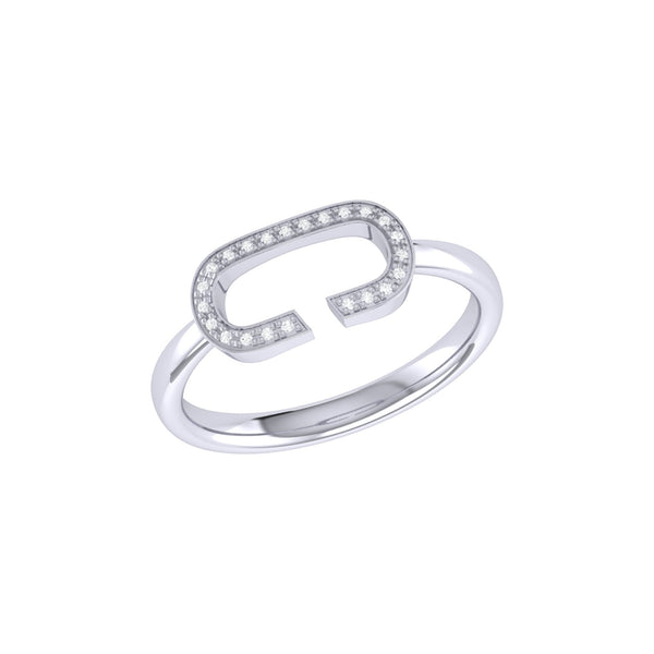 Celia C Diamond Ring in Sterling Silver