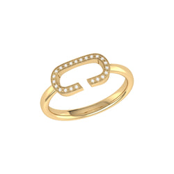 Celia C Diamond Ring in 14K Yellow Gold Vermeil on Sterling Silver