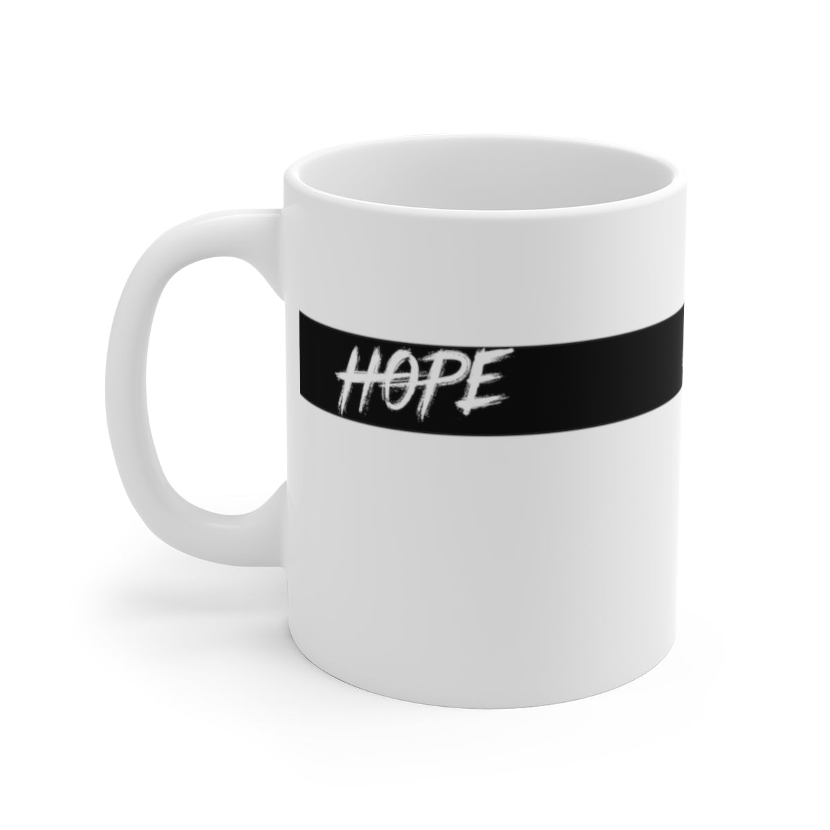 Hope White Ceramic Mug