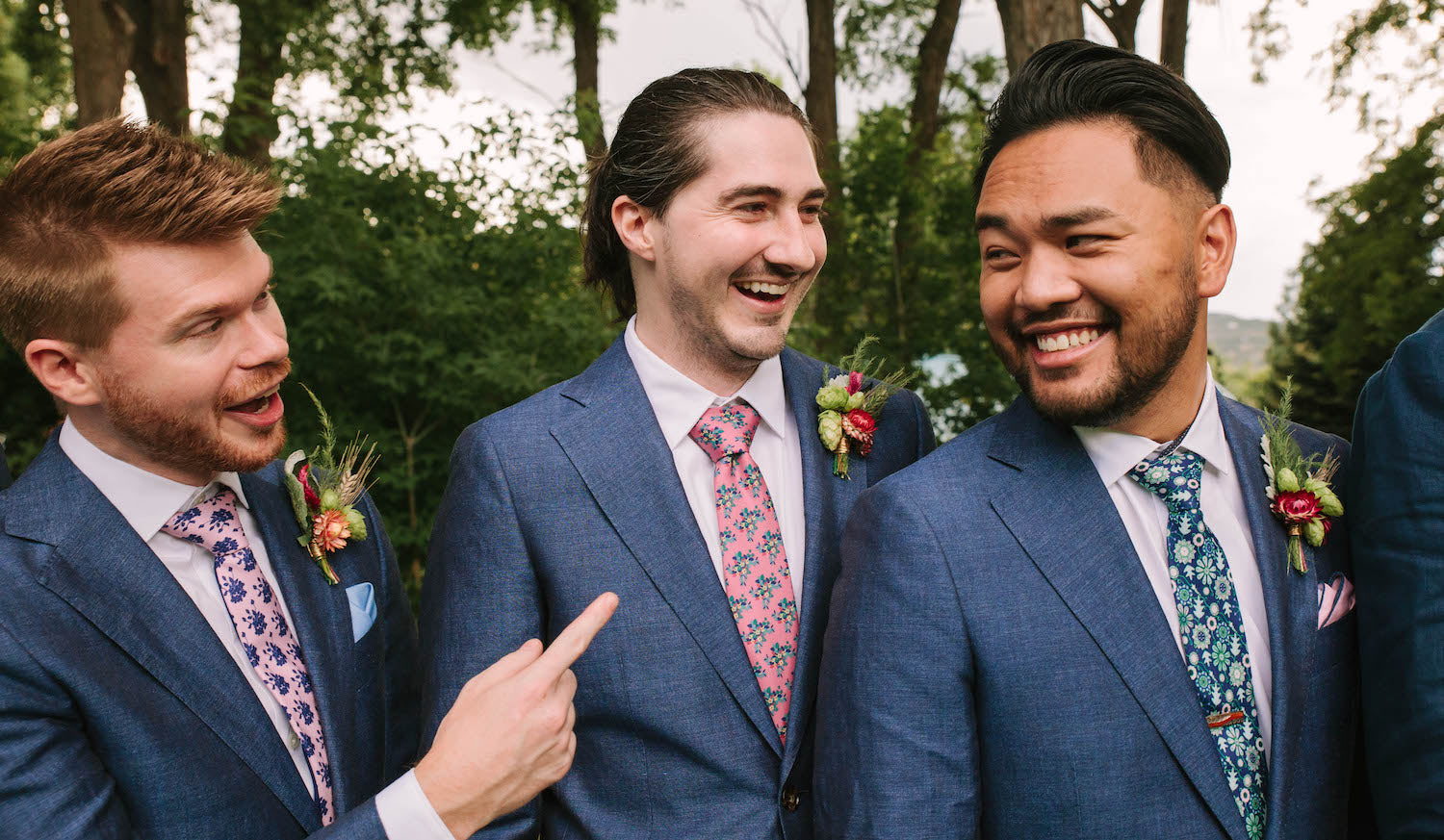 Mix and Match Groomsmen Ties