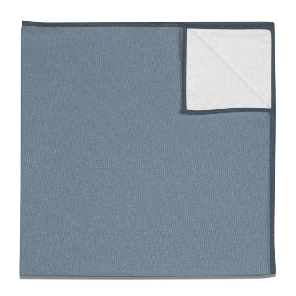 6a236f697eb Pocket Square in Azazie Dusty Blue - - - Knotty Tie Co.