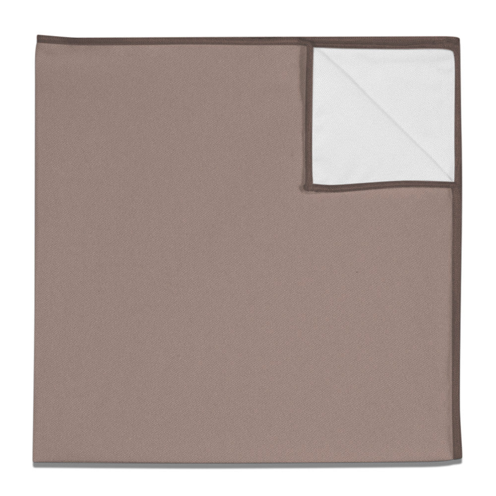 e498c786180 Pocket Square in Azazie Taupe - - - Knotty Tie Co.