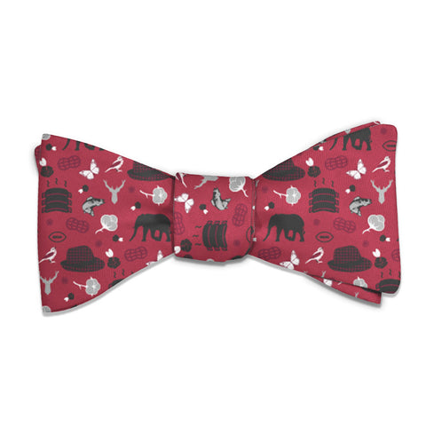 "Alabama State Heritage Bow Tie - Standard 14-18"" Neck Size -  - Knotty Tie Co."