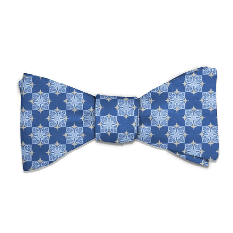 Botanical Tile Bow Tie -  -  - Knotty Tie Co.