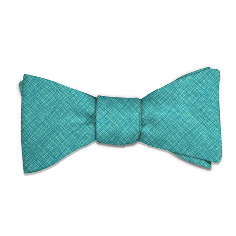 Burlap Crosshatch Bow Tie -  -  - Knotty Tie Co.