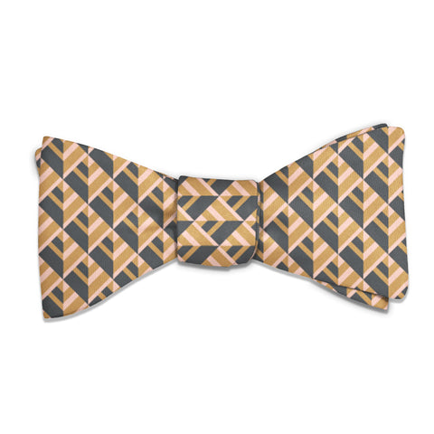 Geo Plates Bow Tie -  -  - Knotty Tie Co.