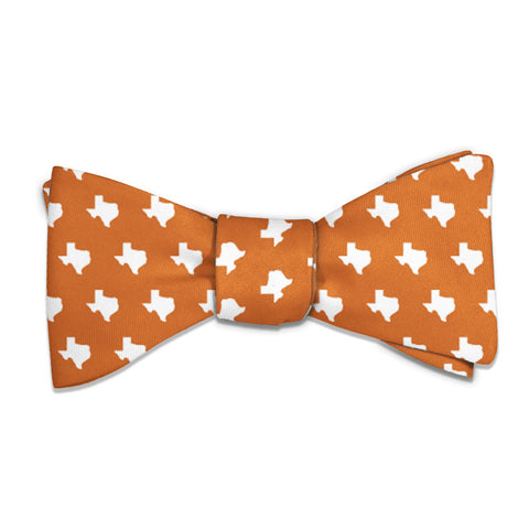 "Texas State Outline Bow Tie - Standard 14-18"" Neck Size -  - Knotty Tie Co."