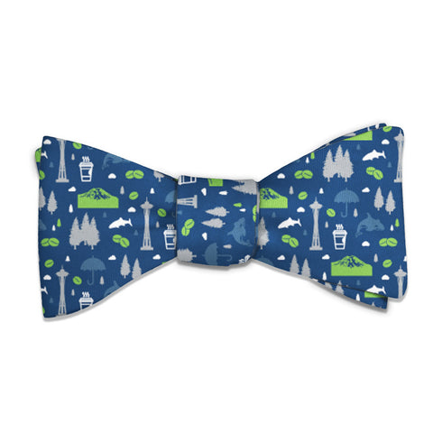 "Washington State Heritage Bow Tie - Standard 14-18"" Neck Size -  - Knotty Tie Co."
