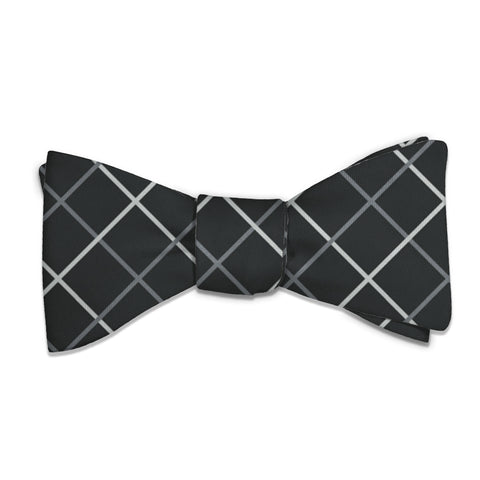 Windowpane Plaid Bow Tie -  -  - Knotty Tie Co.