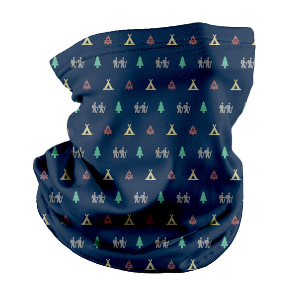 Camping with Friends Neck Gaiter
