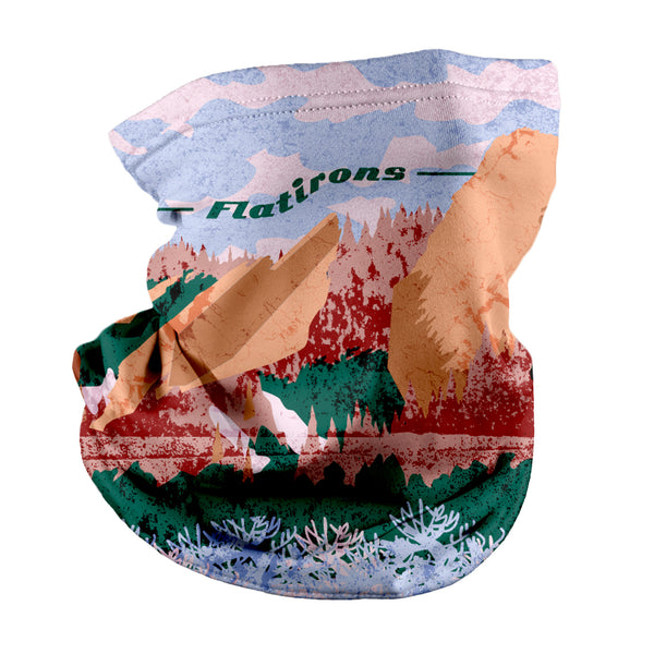 Flatirons Abstract Neck Gaiter