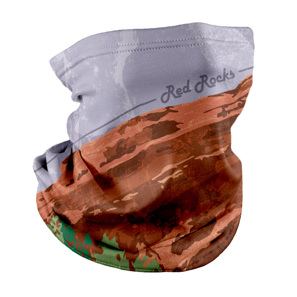 Red Rocks Abstract Neck Gaiter