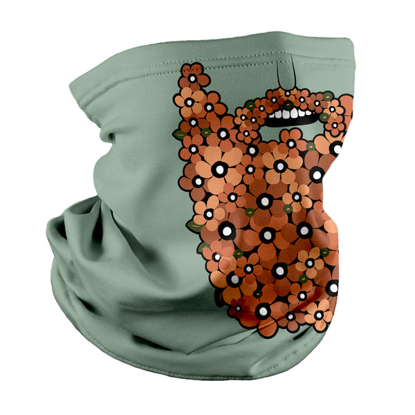 Floral Beard Neck Gaiter