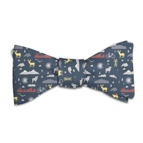 "Colorado State Heritage Bow Tie - Standard 14-18"" Neck Size -  - Knotty Tie Co."