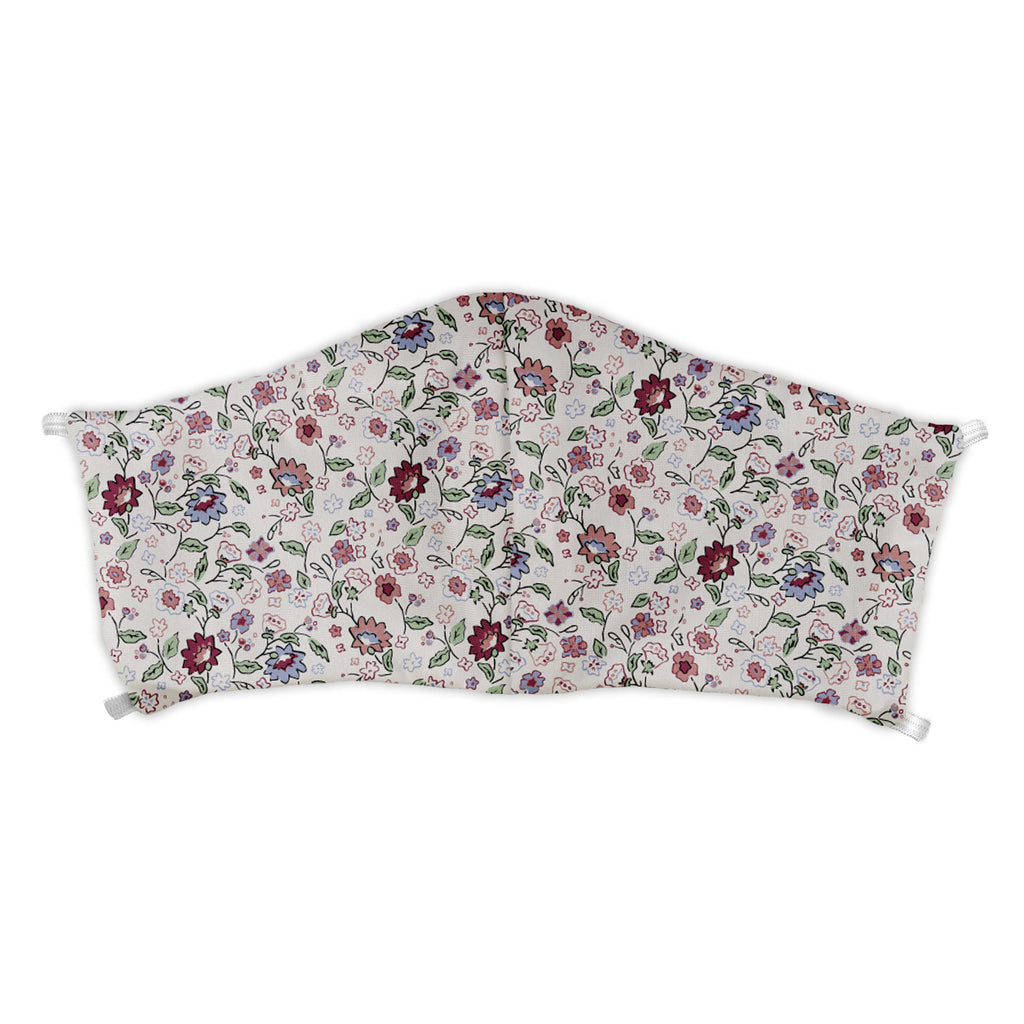 Cecile Floral Face Mask -  -  - Knotty Tie Co.