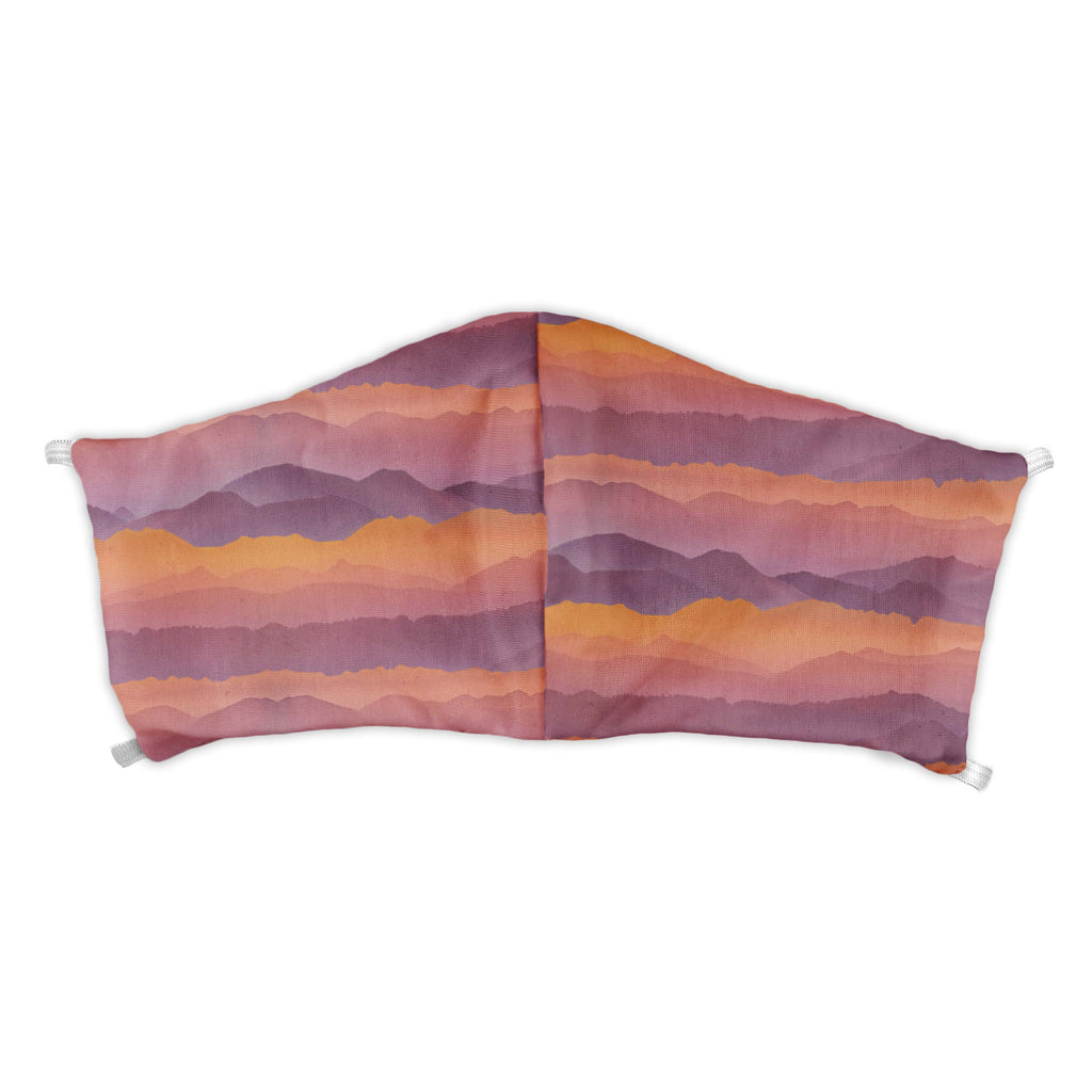 Mountain Sunset Face Mask -  -  - Knotty Tie Co.