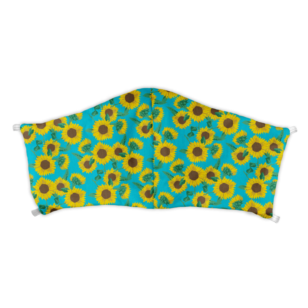 Sunflower Floral Face Mask -  -  - Knotty Tie Co.