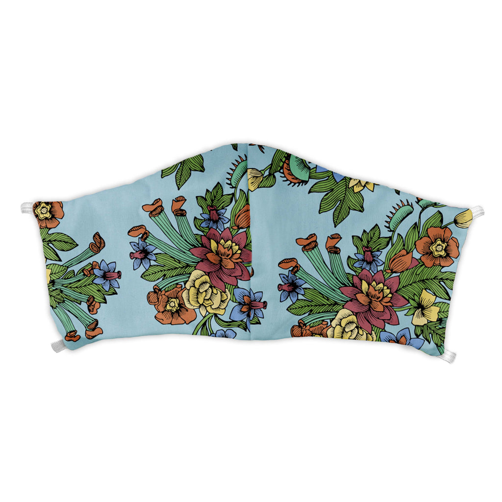 Tattoo Floral Face Mask -  -  - Knotty Tie Co.