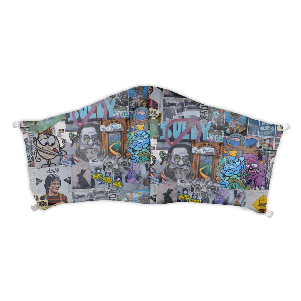Cap Hill Street Art Face Mask -  -  - Knotty Tie Co.