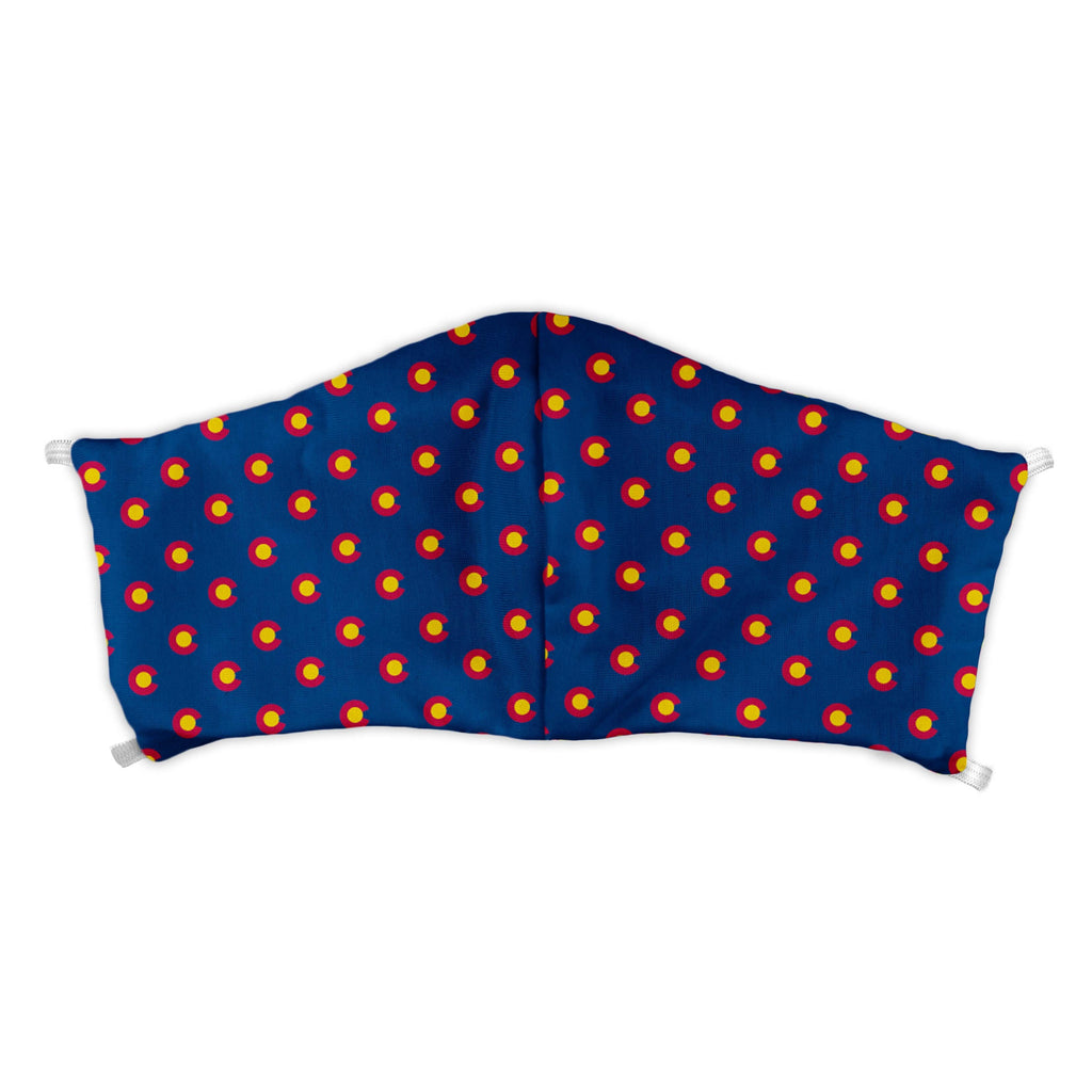 Colorado Flag Blue Face Mask -  -  - Knotty Tie Co.