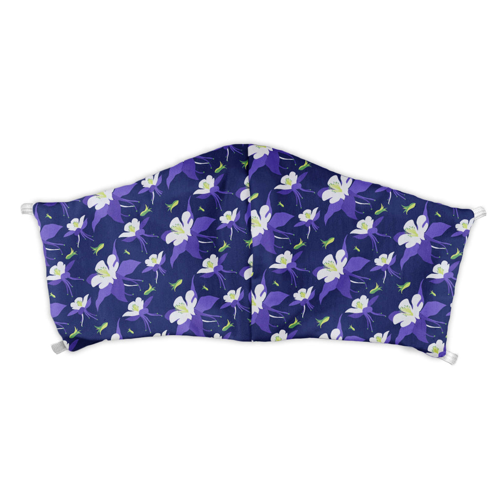Columbine Floral Face Mask -  -  - Knotty Tie Co.