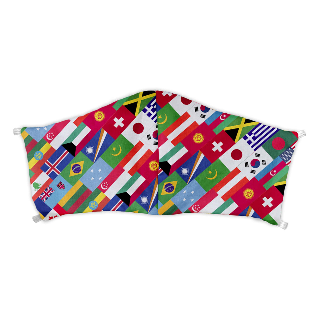 World Flags Face Mask -  -  - Knotty Tie Co.