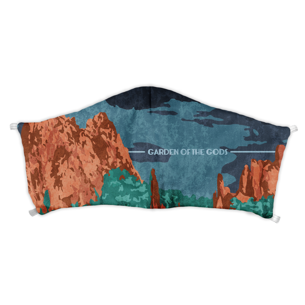 Garden of the Gods Abstract Face Mask