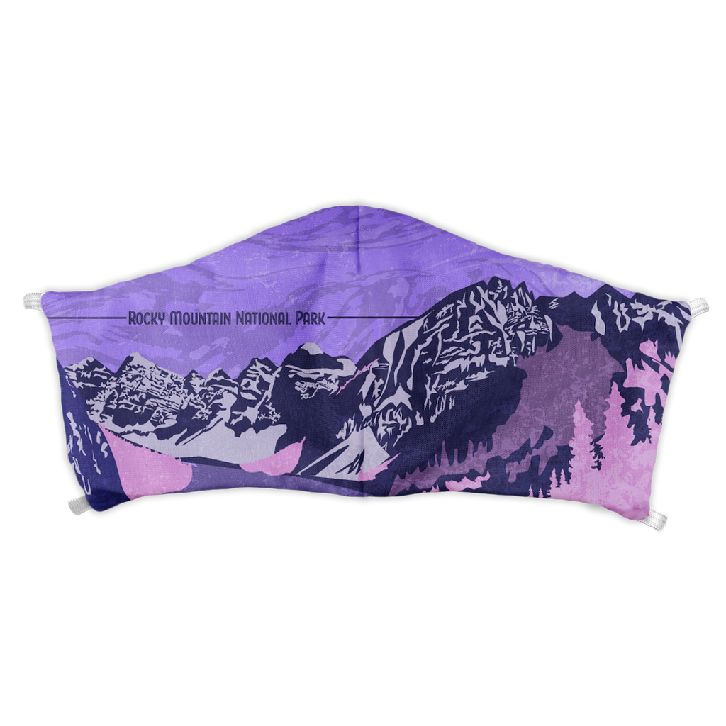 Rocky Mountain National Park Abstract Face Mask