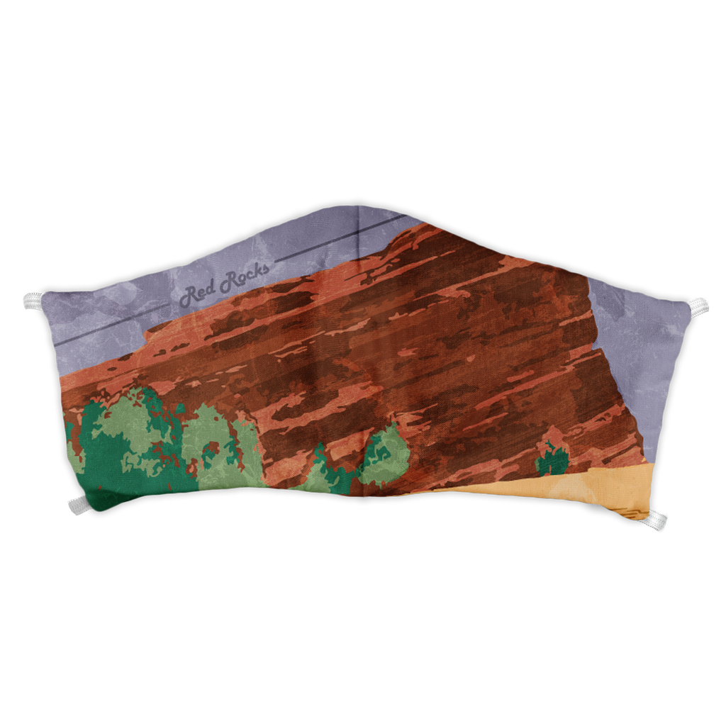 Red Rocks Abstract Face Mask