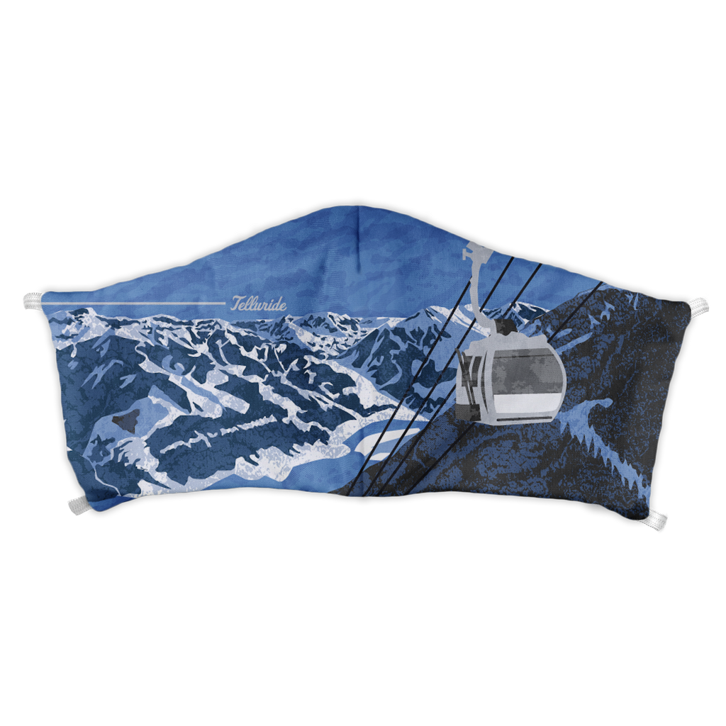 Telluride Abstract Face Mask