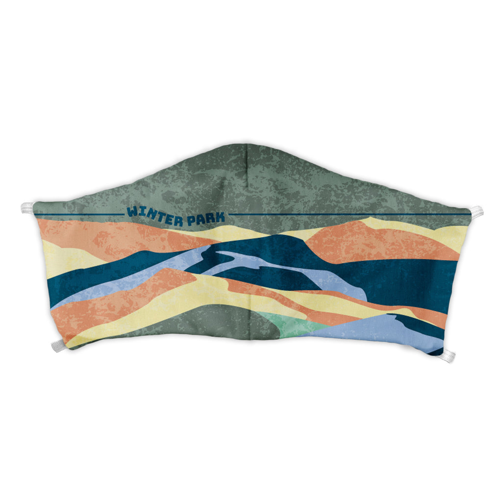 Winter Park Abstract Face Mask -  -  - Knotty Tie Co.