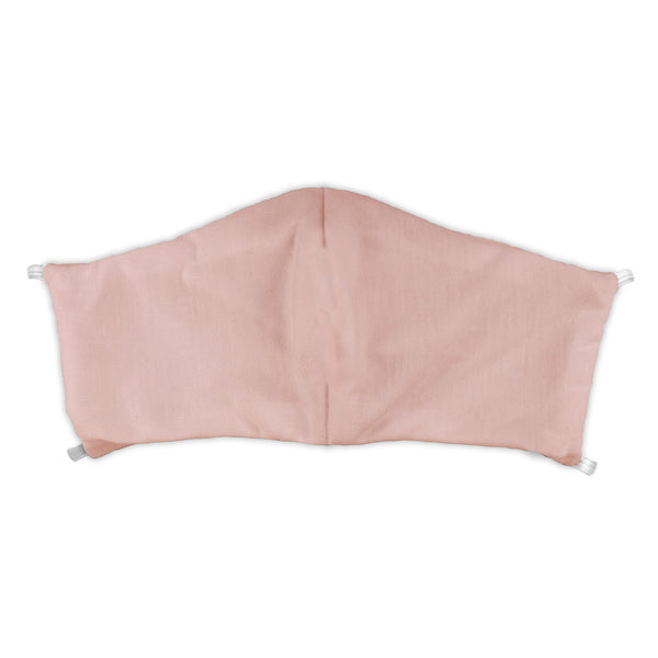 Solid Blush Pink Wedding Face Mask -  -  - Knotty Tie Co.
