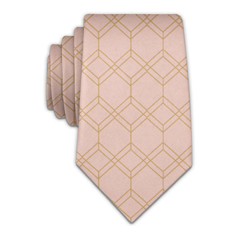 Arcadia Geometric Necktie -  -  - Knotty Tie Co.