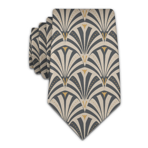 Fanfare Geometric Necktie -  -  - Knotty Tie Co.