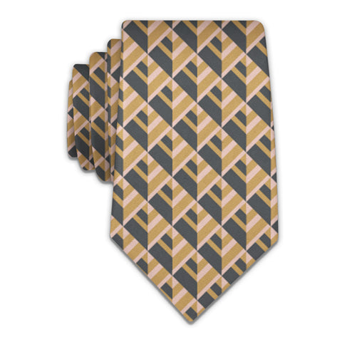 Geo Plates Necktie -  -  - Knotty Tie Co.