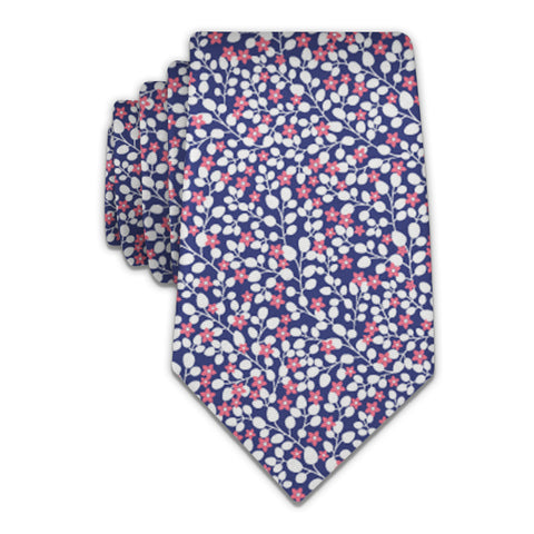 Micro Floral Necktie -  -  - Knotty Tie Co.