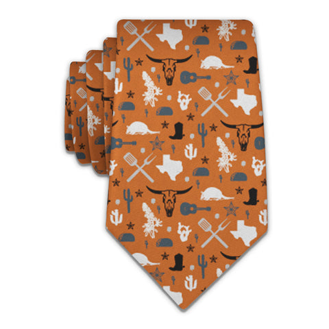 "Texas State Heritage Necktie - Knotty 2.75"" - Burnt Orange - Knotty Tie Co."