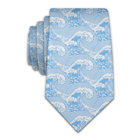 "Waves Necktie - Knotty 2.75"" - Light Blue - Knotty Tie Co."