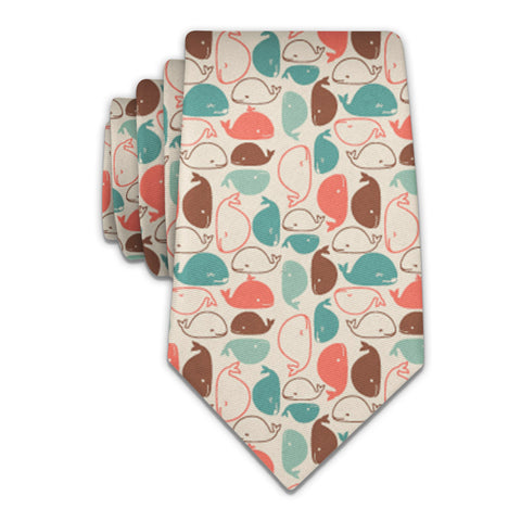 "Whales Necktie - Knotty 2.75"" -  - Knotty Tie Co."